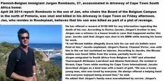 Flemish-Belgian immigrant Jurgen Rombauts, 27, assassinated