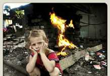 White squatter camps South Africa - Children Suffering