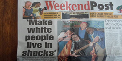 Make Whites Move From Their Mansions and Live in Shacks
