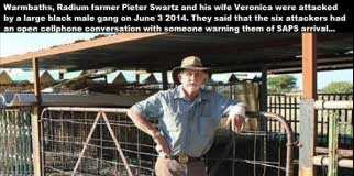 Pieter Swartz survive farm attack by 6 black males