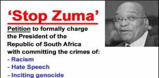 Charges against the South African President, Jacob Zuma, for committing crimes against humanity