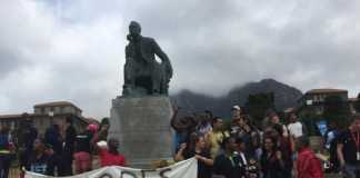 Statue of Cecil John Rhodes at UCT
