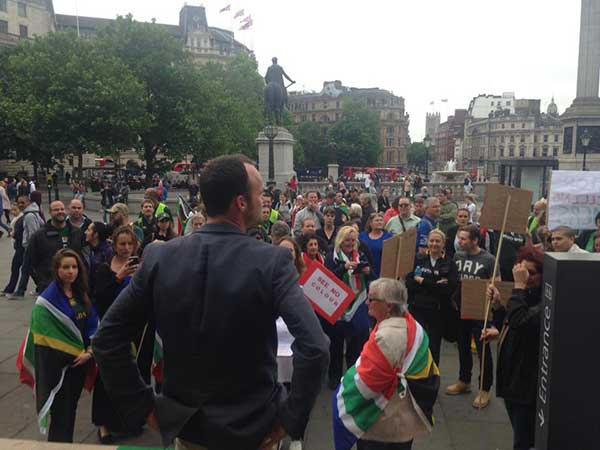 South Africans Marched In London To Make A Stand Against