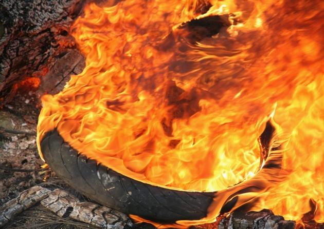 tyre-burning