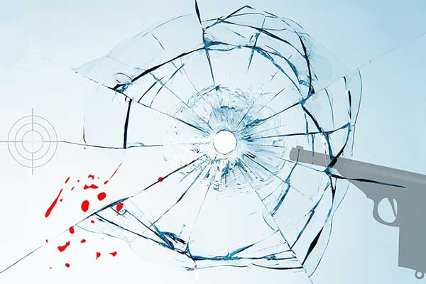 bullet-hole-glass-blood