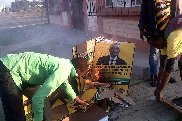ANC-posters-burn-in-Marikana