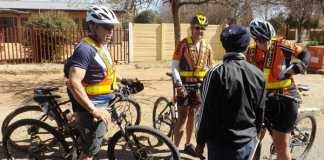 Police-on-bicycles-in-Welkom-South-Africa