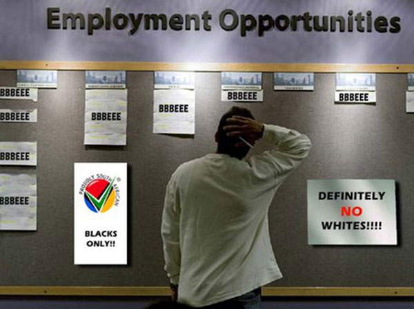 affirmative action in south africa Department of labour of south africa is responsible for creating a conducive working environment, working conditions, basic conditions, minimum wages, compensation of occupational injuries, employment equity, labour relations and unemployment insurance.