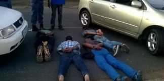 Four suspects arrested for armed robbery and attempted murder. Photo: SAPS