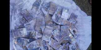 Counterfeit money recovered. Photo: SAPS