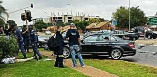 High speed chase and shootout between police and robbers. Photo: CICA