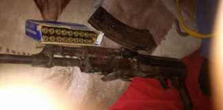 Police recovers AK47, magazine and ammunition. Photo: SAPS