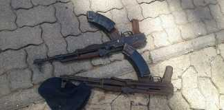 Police recovered two AK47 rifles and a pistol that were used by the hijackers. Photo: SAPS