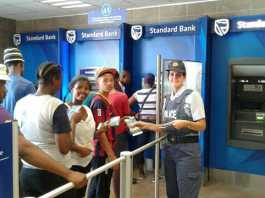 Awareness campaign and safety tips when using an ATM. Photo: SAPS