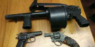 Suspect wanted for murder and robbery arrested. Three firearms seized. Photo: SAPS