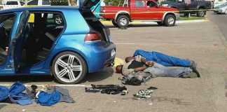Four suspects arrested after attempted robbery. Photo: SAPS