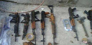 Police recovered bombs, AK 47 rifles and handguns in Randburg. Photo: SAPS