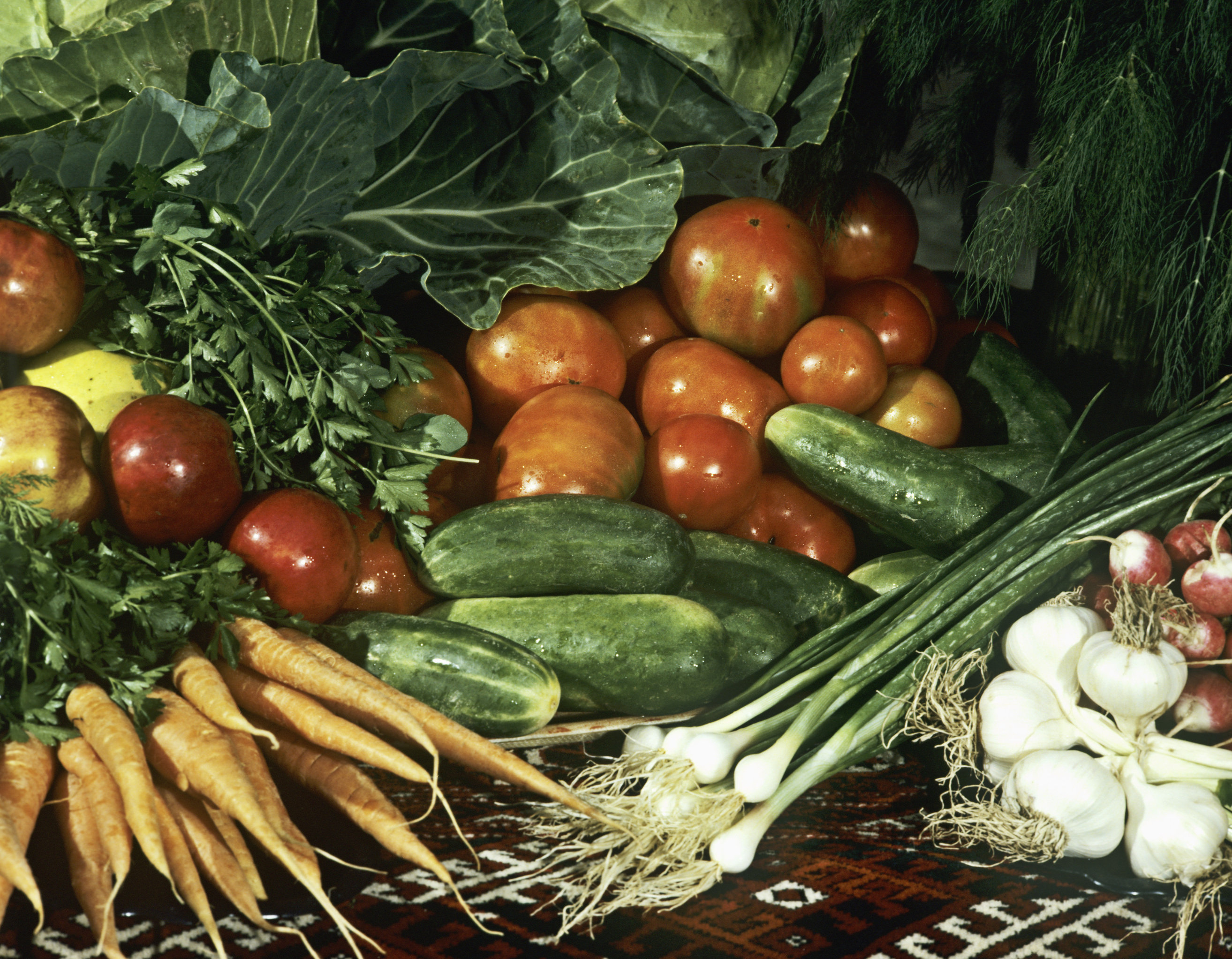 Fresh Russian vegetables