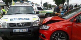 Three suspects arrested for possession of stolen property. Photo: SAPS
