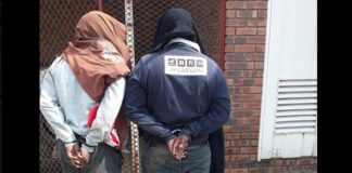 Two suspects arrested with 10 packets of Mandrax. Photo: SAPS