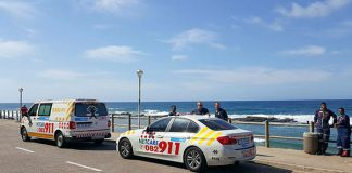 Drowning at the Umdloti North beach tidal pool. Photo: Netcare 911