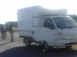 Delivery vehicle robbed by four armed robbers. Photo: SAPS