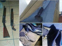 Mitchells Plain police discover arms cache in Tafelsig. Photo: SAPS