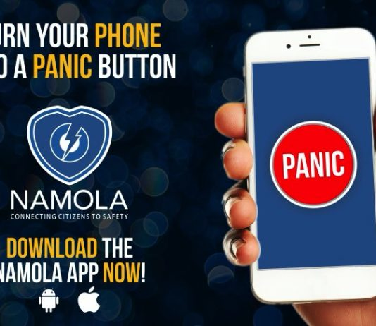 Law enforcement at the click of a button - Namola safety app. Photo: Twitter