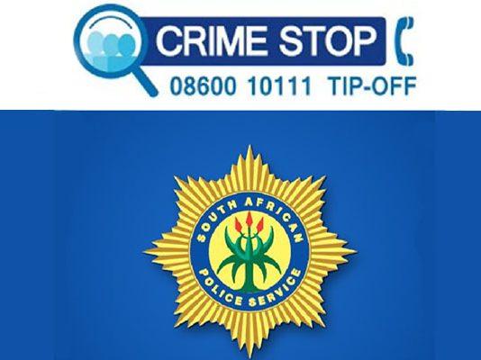 Crime stop Photo: SAPS