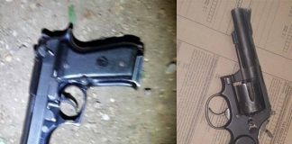 Suspect arrested and fire arms confiscated Photo: SAPS