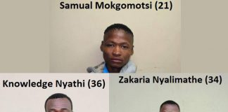 Manhunt launched for three escaped prisoners Photo: SAPS
