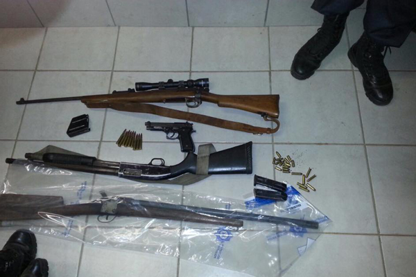 Task team recovers firearms and ammunition. Photo :SAPS