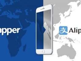 Zapper has partnered with Alipay, the world's largest mobile payment provider