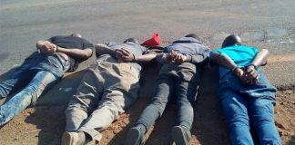 7 arrested as police foil cash in transit heist, Lebowakgomo. Photo : SAPS
