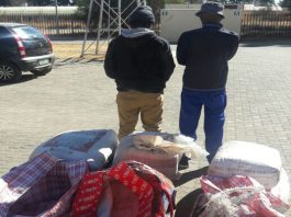 Two arrested for dealing in dagga. Photo : SAPS