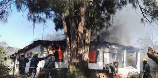 Illegal electricity connection blamed for house fire Photo : Arrive Alive