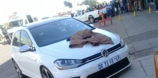 Two arrested after business robbery , Thabazimbi. Photo : SAPS