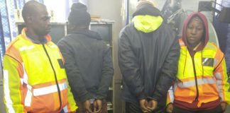 Two arrested for possession of unlicensed firearms. Photo: SAPS