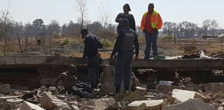 Eleven illegal immigrants, illegal miners, arrested, Daggafontein. Photo: SAPS