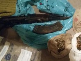 Man arrested with an AK47 and ammunition, Philippi East. Photo: SAPS