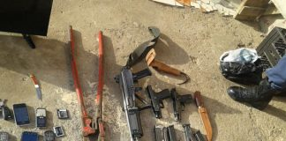 Man arrested with rifle and various incriminating items, Mthatha. Photo: SAPS
