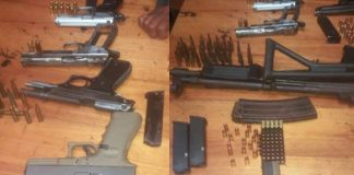 Clamp down on political killings, 6 arrested, firearms seized. Photo: SAPS