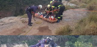 Bound man rescued after being thrown of cliff, Kloof. Photo: SAPS