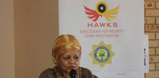 Hawks and human trafficking awareness campaign. Photo: SAPS