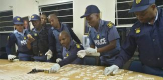 2553 mandrax tablets and firearm recovered, Ocean View. Photo: SAPS
