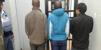 Cross border crimes, 5 arrested, Caldonspoort. Photo: SAPS