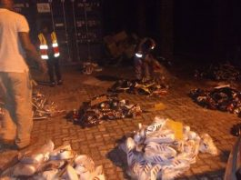 Counterfeit sneakers worth R5 million recovered. Photo: SAPS