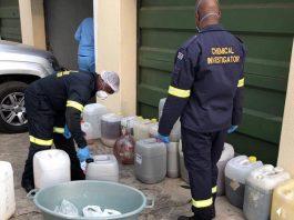 Tik worth R30 million recovered at manufacturing lab, EL. Photo: SAPS