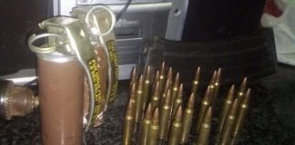 Man attested with explosives and ammunition, Bhisho. Photo: SAPS