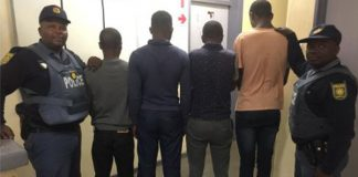 4 armed business robbery suspects arrested, PE. Photo: SAPS